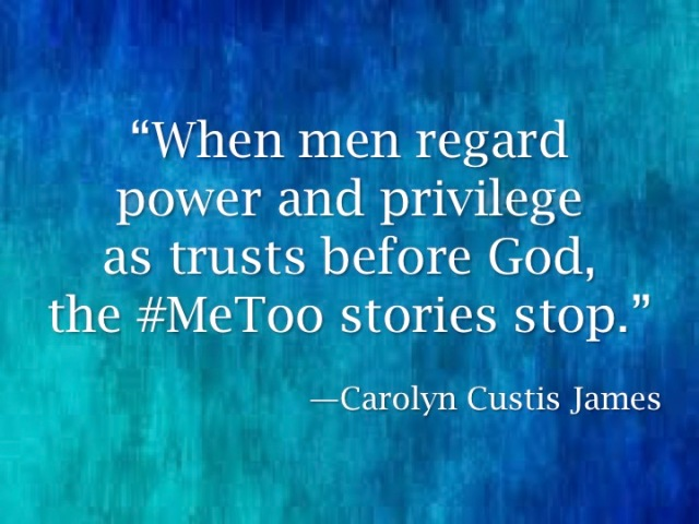#MeToo & Male Pwr&Privilege