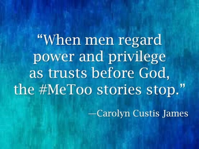 #MeToo & Male Pwr&Privilege